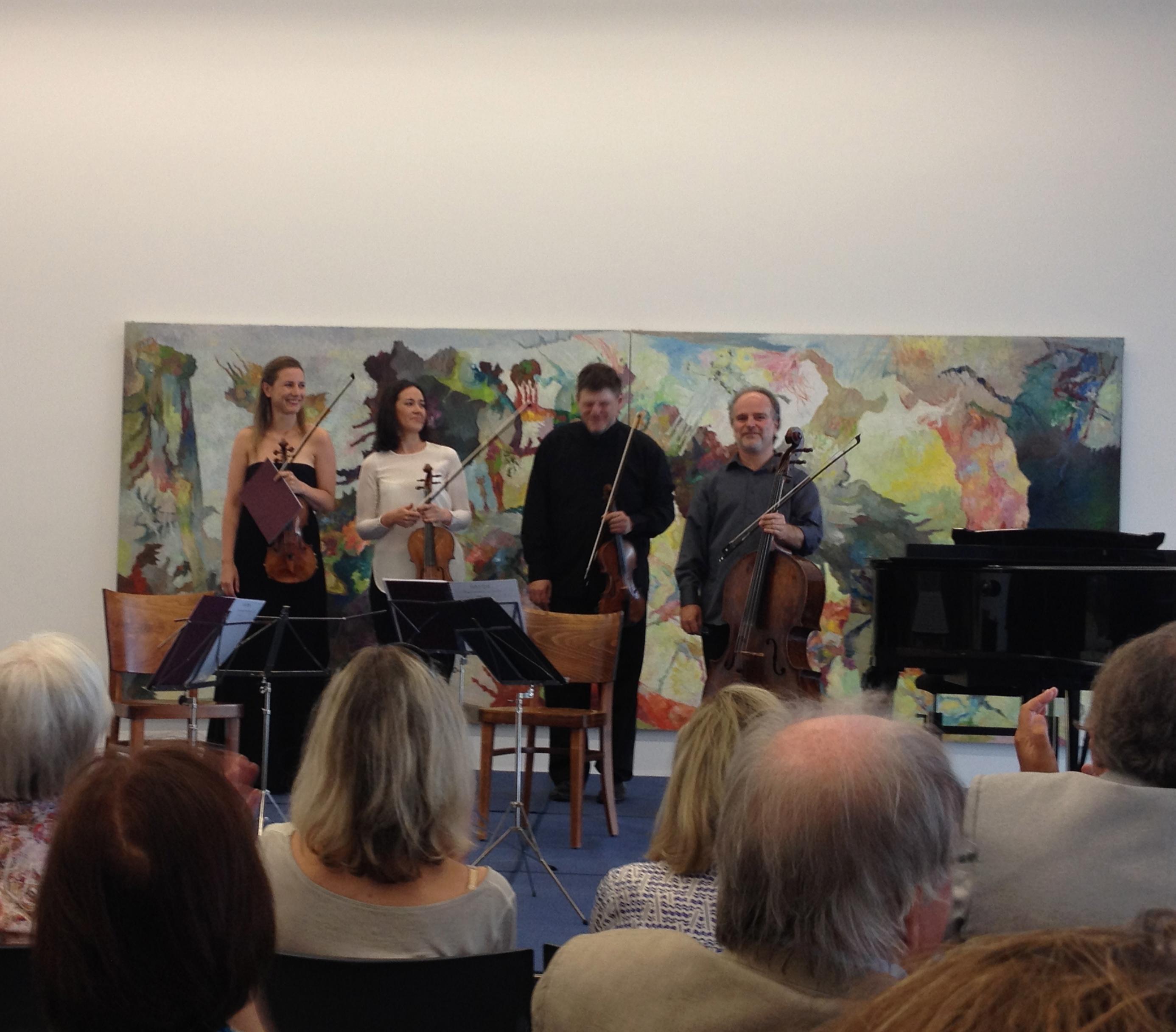 Das neugegründete Arp-Quartett! Foto: Sabine Weber