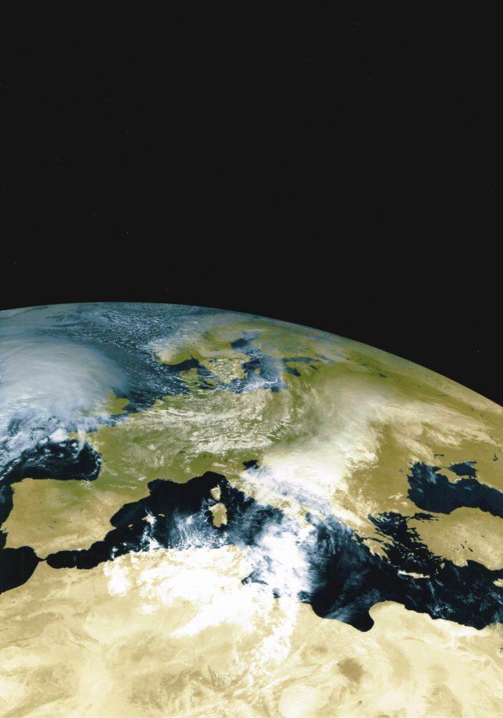 Die Erde aus Satellitenperspektive. Foto: ESA