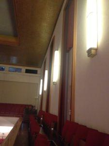 Viersener Festhalle Seitenansicht in Richtung rückwärtiger Raum
