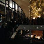 Die Milchstraße als Lichtinstallation im oberen Foyer