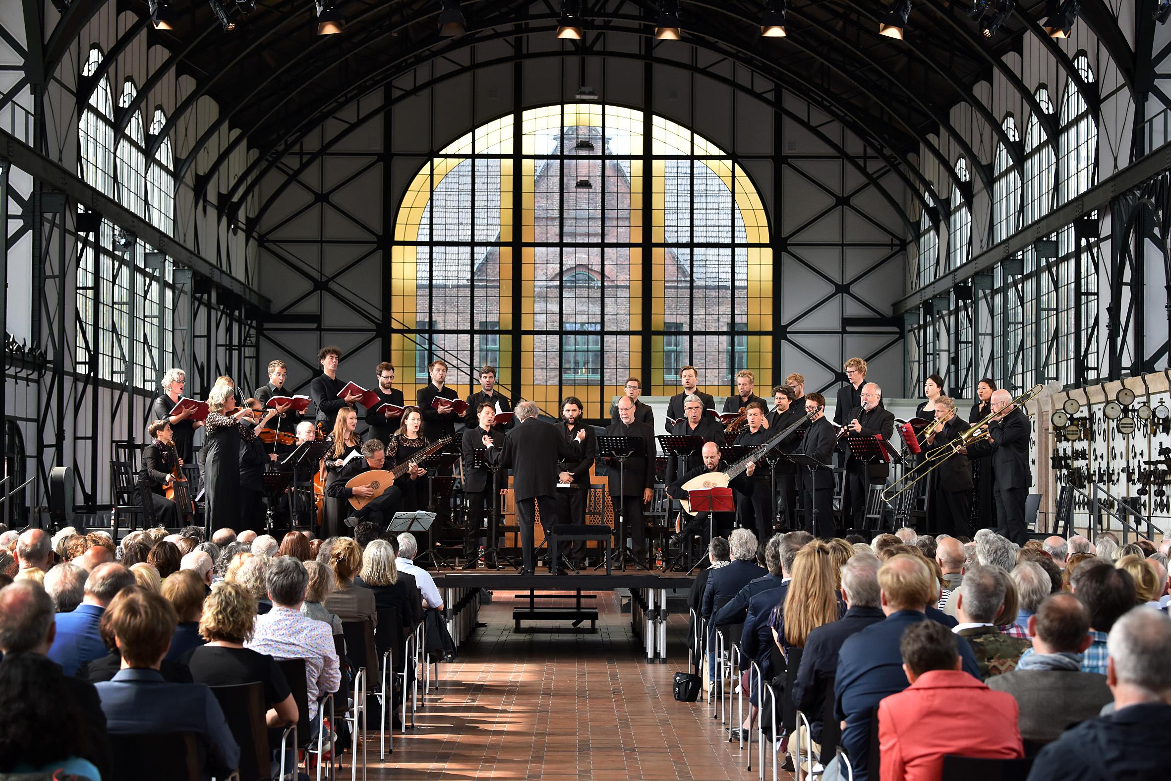 Concerto vocale Gent in der Maschinenhalle der Zeche Zollern.  Foto: Volker Beushausen