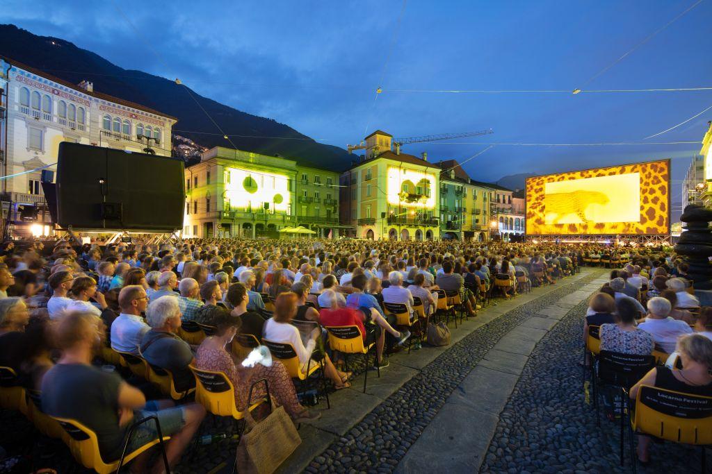 Die Piazza Grande wird beim Locarno Filmfestival jedes Jahr zu einem gigantischen Kinosaal!  Foto: Massimo Pedrazzini