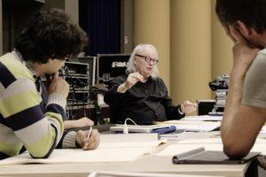 Philippe Manoury bei den Vorbereitungen. Foto: Gürzenich-Orchester 2019