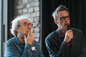 Christoph Marthaler und Ulrich Fussenegger. Foto: Daniel Sadrowski/ Ruhrtriennale 19