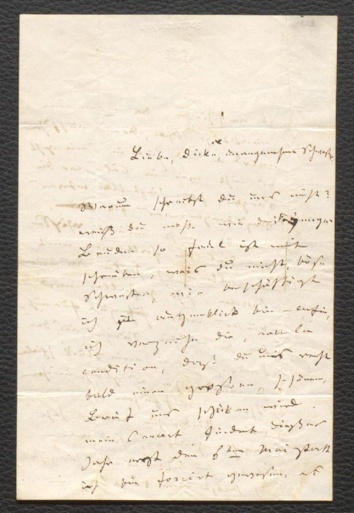 Brief Jacques Offenbachs an seine Schwester Ranetta, 20. April 1853, HAStK Best. 1136, A 194