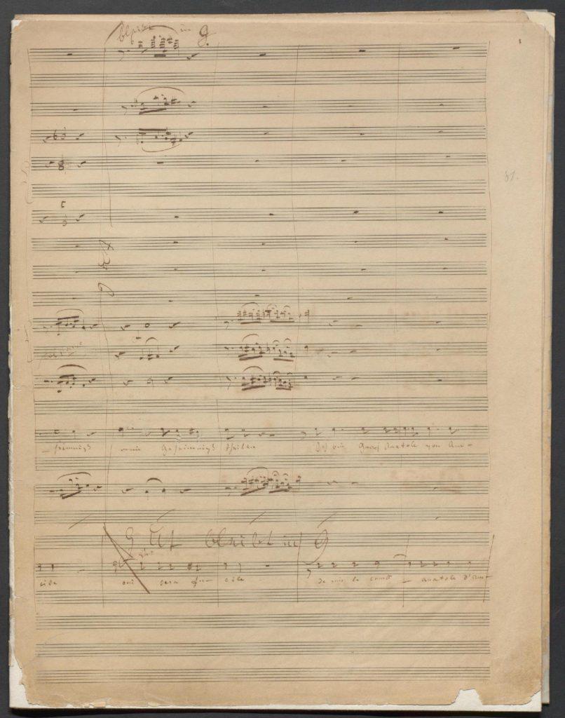 "Notenmanuskript ""Marielle, oder Seargant und Commandant"", 1847/1848, HAStK Best. 1136, A 1757"