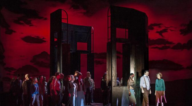 """im Strudel der Hyperinflation 1923. die Oper """"Wolf unter Wölfen"""" von Søren Nils Eichberg ist am Theater Koblenz uraufgeführt worden und Sucht Parallelen zu Heute"""