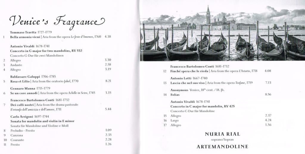 Die neue CD von Nuria Rial bedient die Sehnsucht nach Venedig mit Mandolinenklängen