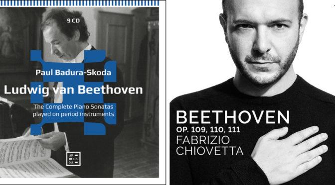 Rhetorik oder Romantik. Ein Vergleichsversuch von Beethovens drei letzten Klaviersonaten auf Hammerflügel mit Paul Badura-Skoda und auf dem modernen Steinway mit Fabrizio Chiovetta